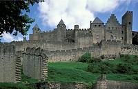 castle, carcassonne, france