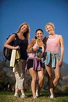 Women hiking