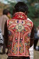 traditional woven jacket , Tarnetar fair , than , gujarat , india