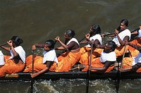 Nehru Boat Race Festivals , Snake Boat Race progress , jalostavam for Haripad Subramanya Temple , Alappuzha alleppey , Kerala , india
