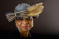 Minnie Anderson.  Celebrating church hats and the women who wear them at Christ Pilgrim Rest MB Church in St. Louis