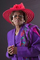 Dorothy Joner.  Celebrating church hats and the women who wear them at Christ Pilgrim Rest MB Church in St. Louis