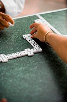 Men playing dominos