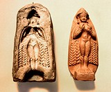 fine arts, Mesopotamia, Babylonia, Ishtar as Goddess of Love, sculpture and form, clay, Old Babylonian, 2nd millennium BC, British Museum London, anci...