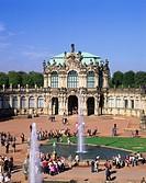 geography / travel, Germany, Saxony, Dresden, buildings, Zwinger, Rampart Pavilion, inner courtyard, architects Matthäus Daniel Pöppelmann und Balthas...