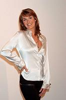 Reinecke, Britt, * 2 1 1972, deut Fernsehmoderatorin, Halbfigur, 2005, Moderatorin, Talkshow Britt - Der Talk um eins, Talkmasterin,