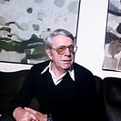 Reinecker, Herbert, 24 12 1914 - 26 1 2007, deut Schriftsteller, Portrait, Homestory, Berg am Starnberger See, Ende 1970er Jahre, Drehbuchautor, Krimi...