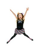 Girl jumping up in joy (thumbnail)