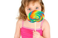 Girl eating lollipop