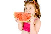 Girl eating water-melon (thumbnail)
