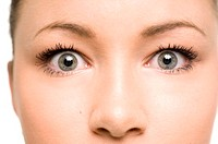 Close-up of teenage girl's eyes