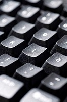 Close up on computer keyboard