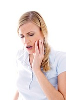 Woman having toothache (thumbnail)