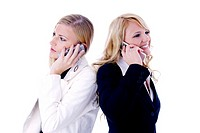Businesswomen talking on the mobile phone