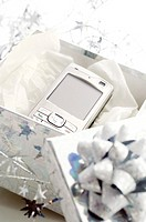 Cellphone in a present box (thumbnail)