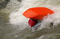 Capsized Kayaker