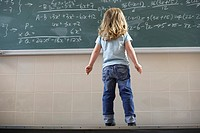 Girl Looking at Blackboard