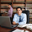 Multi-ethnic lawyers working in office