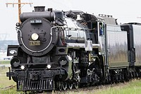 Old fashioned train steam locomotive