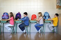 Students Sitting at Desks