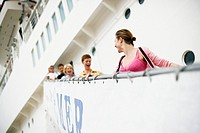 Tourists Disembarking Cruise Ship