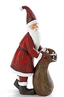 Santa Claus figurine, close-up