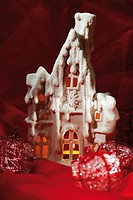 Christmas Decoration House with tealight