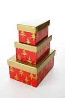 Christmas gift boxes with separate lid