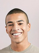 Young man smiling close_up