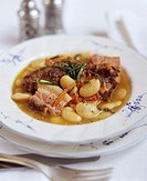 Braised lamb with white beans France
