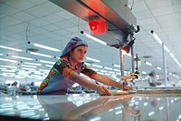 woman working in factory , india