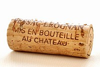 Wine cork from Pessac-Leognan, France close-up