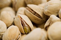 Closeup of pistachio nuts