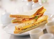 American style turkey sandwiches