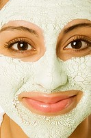 Woman wearing a facial mask