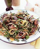 Spaghetti vongole with fresh parsley