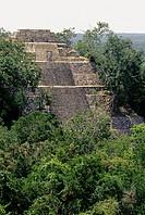 Mayan ruins. Calakmul. Campeche, Mexico