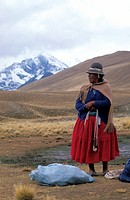 Bolivian woman with a traditional hat  Bolivia, South America