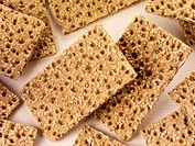 Scandinavian crispbread with sesame seeds Not available for exclusive usages