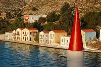 Kastellorizo Town, view from the mosque, minaret  Kastellorizo, Dodecanese, Greece