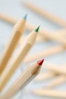 Coloured pencils differential focus