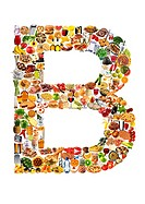 Foodfont Letter b on White - Non Exclusive