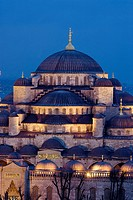 Blue Mosque in the evening, Istanbul. Turkey