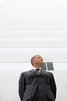 Low angle view of businessman