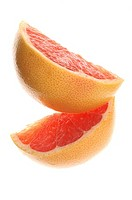 Two pieces of grapefruit
