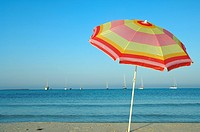 Sunshade at the sea