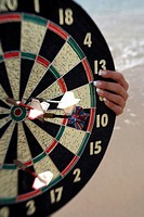 Closeup of dartboard (thumbnail)