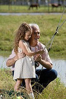 Grandfather and Granddaughter fishing (thumbnail)