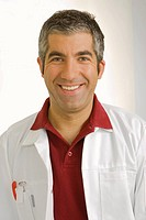 Portrait of a male dentist smiling