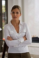 Portrait of a businesswoman standing with her arms crossed (thumbnail)